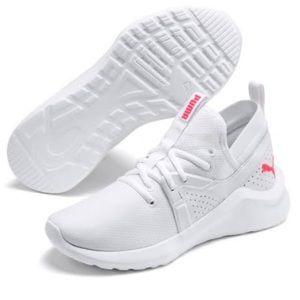 Puma's Women's Mesh Training Sneakers Pink/White